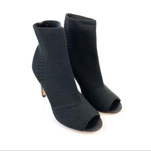 Express Stretch Knit Peep Toe Sock Booties Sz 8
